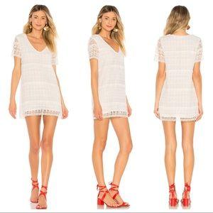 TULAROSA Lambros Mini Dress White